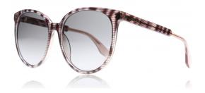 Jimmy Choo - Jimmy Choo Reece Solglasögon Striped glitter rod LX9