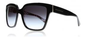 Dolce and Gabbana - Dolce and Gabbana 4234 Solglasögon Svart Vit Carnation Svart Pois 29768G